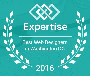 "We Won ""Best Web Designers in DC"" Expertise Award"